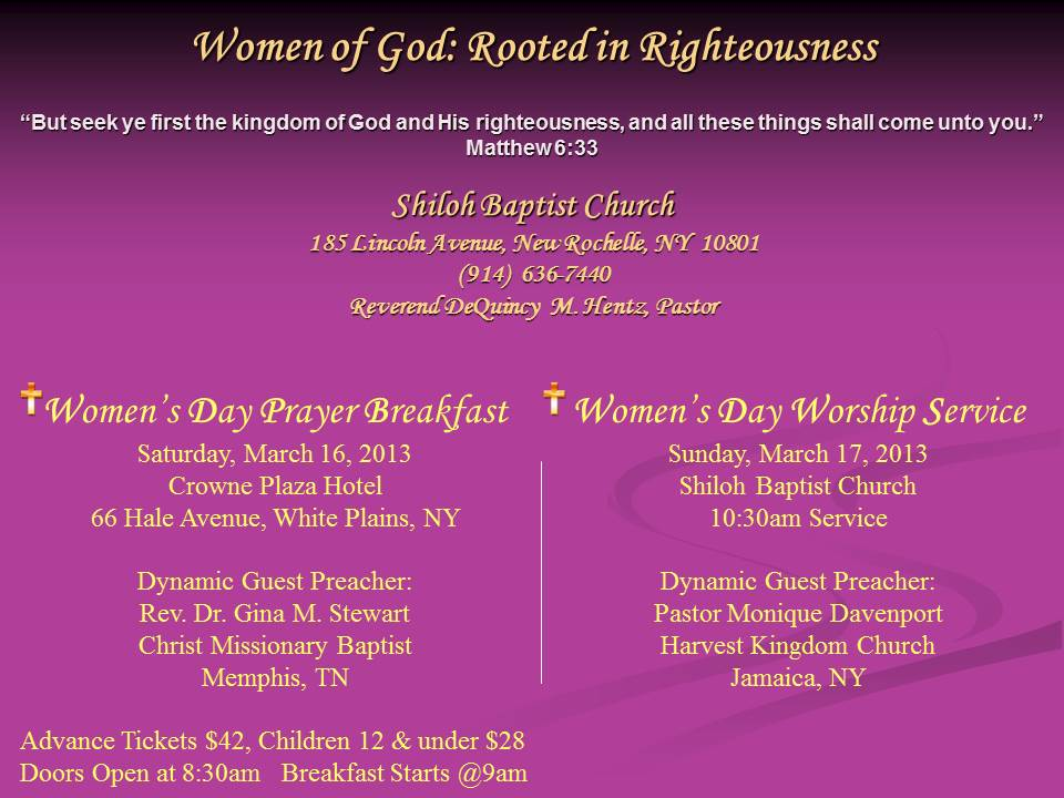 03.17.2013] - Women of Shiloh Annual Day